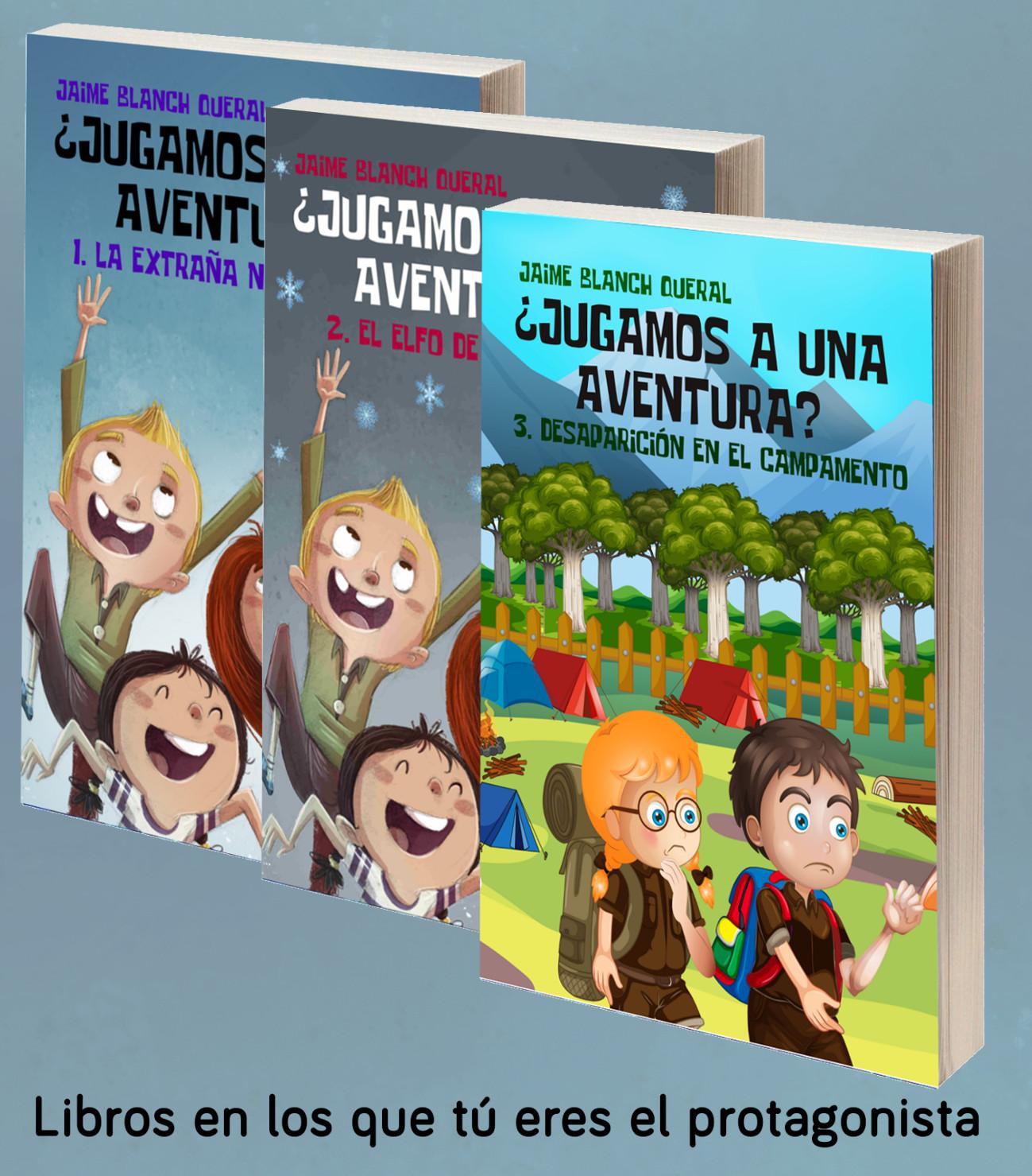 Colección de libro-juegos ¿Jugamos a una aventura? Libros donde el lector es el protagonista. A partir de 7 años.